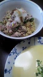 サバ丼とホルンかぼちゃの冷製スープ.jpg