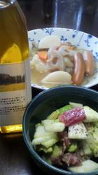レンコン入りポトフと自家製菜種油を使ったサラダ.jpg