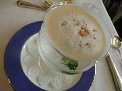 木村さんの自然栽培のりんごを使った冷製スープ