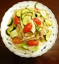 ガイアの夏野菜たっぷりアンチョビパスタ