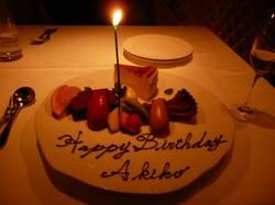 たわしたでbirthday-cake